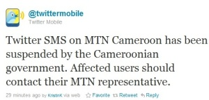 Twitter Suspended By Cameroon Government